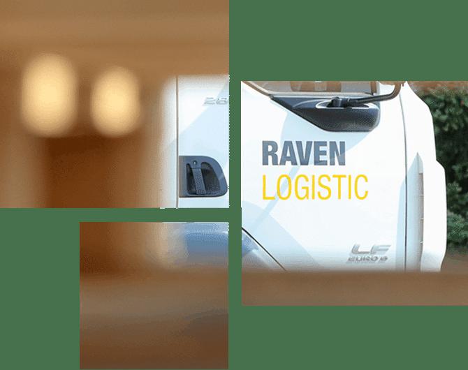 Raven LKW und Logistikmitarbeiter