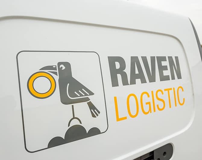 Logo auf Transporter