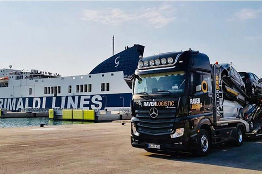 Autotransporte nach und von Griechenland mit der RAVEN Logistic