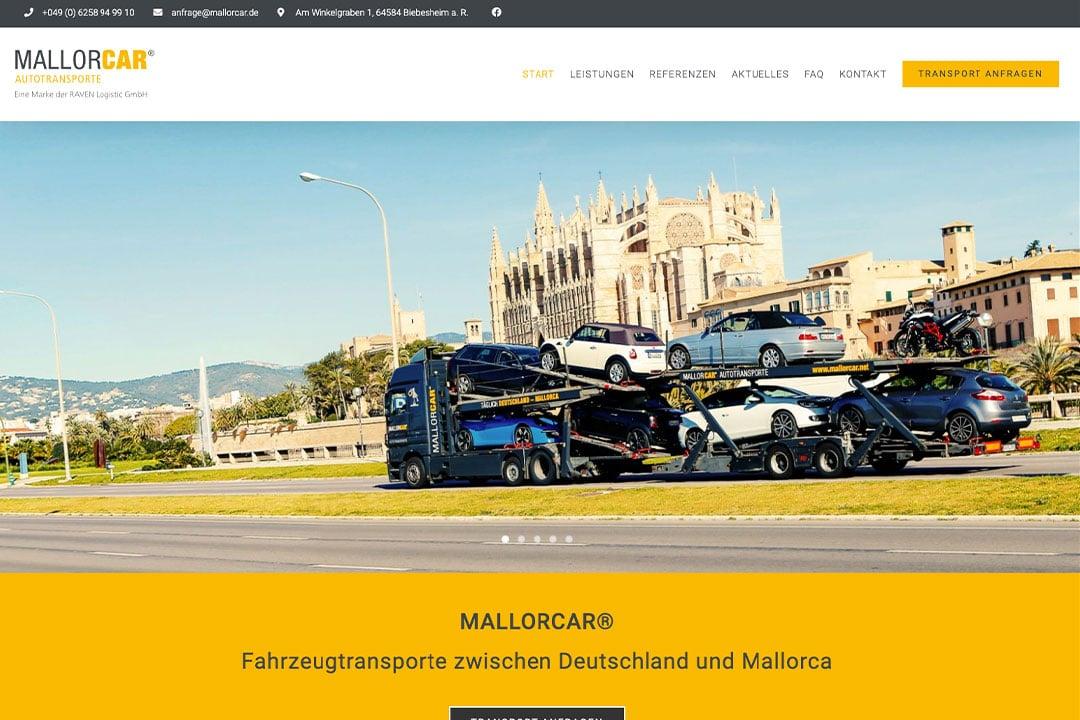 MALLORCAR® Autotransporte - Eine Marke der RAVEN Logistic