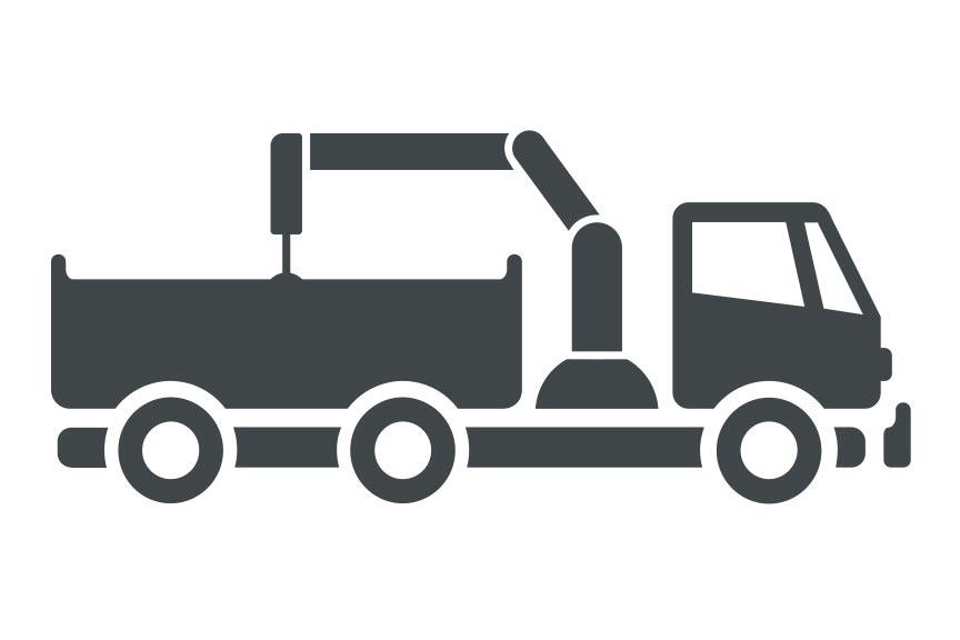 Jobs bei RAVEN Logistic: Hängerzug mit Baustoffkran